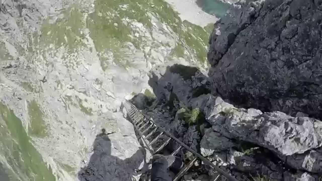 Klettersteig Hindelang : Hindelanger klettersteig 2015 hd youtube