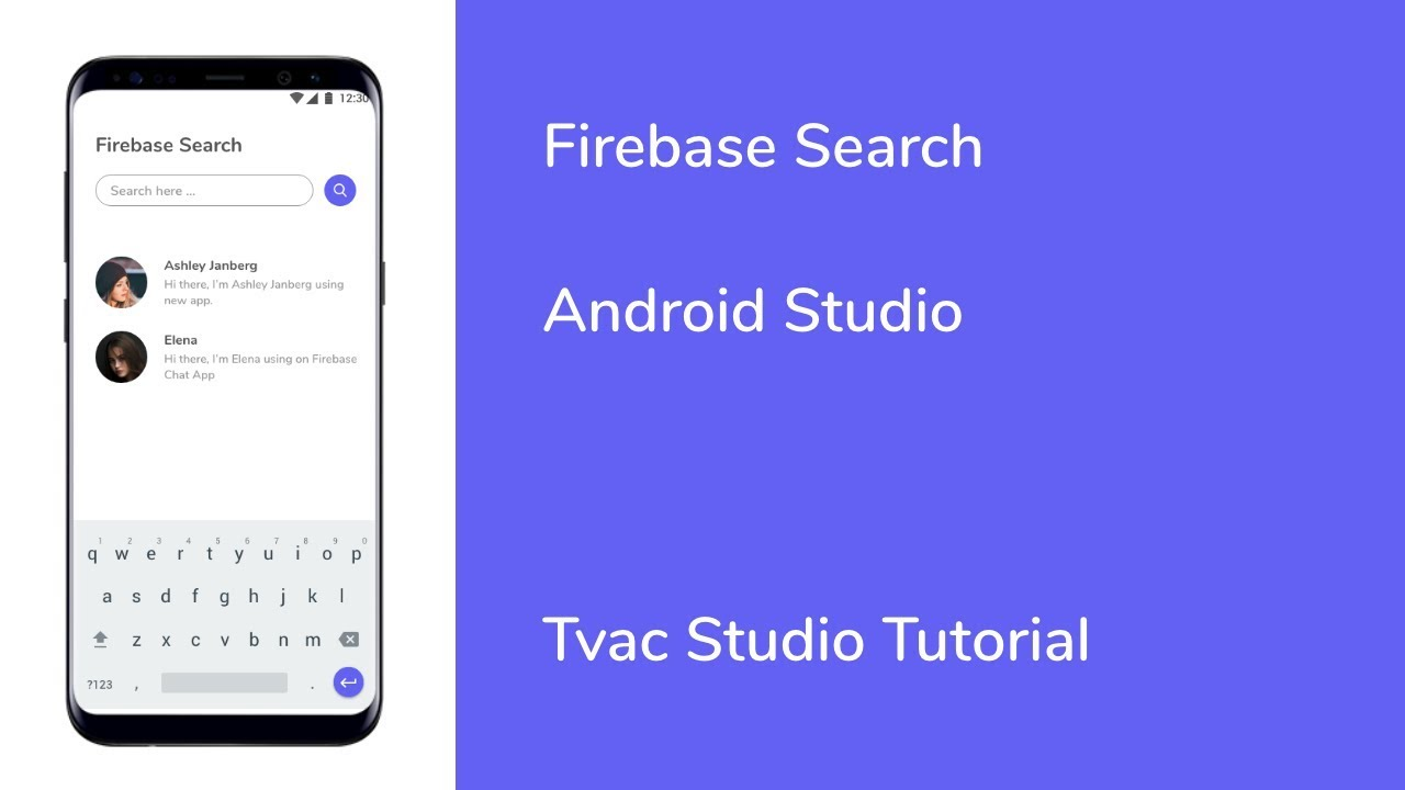 Android Studio - Firebase Search - Firebase Tutorial