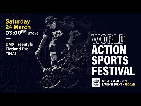 FWS 2018 LAUNCH EVENT JEDDAH: BMX Flatland Pro Final