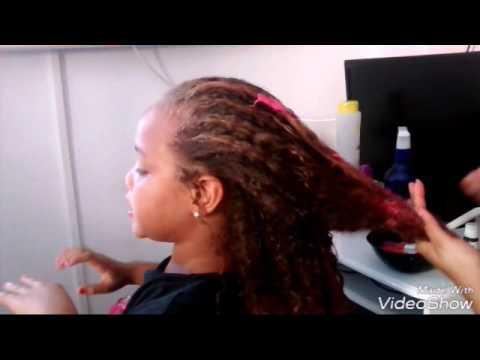 Cabelos De Crianca Como Colorir Anilina E Creme Teste No Seu
