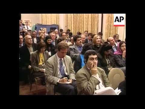 USA: UN: IRANIAN PRESIDENT KHATAMI PRESS CONFERENCE