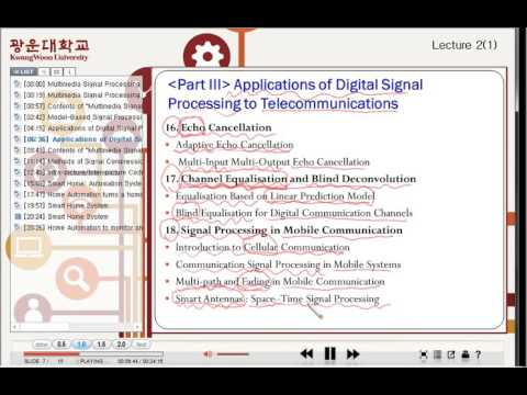 Multimedia Signal Processing Lecture 2 (Part 1/2)