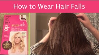 Wigs 101 - How to Wear Clip-In Hair Falls or Extensions