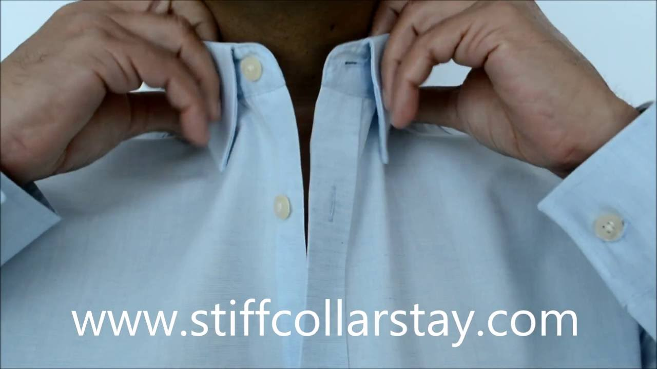 stiff collar stay how to solve the shirt collars problem youtube