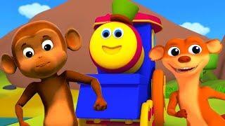 Bob xe lửa | Pop đi chồn | bài hát cho trẻ em | vần cho trẻ em | Bob Train Pop Goes the Weasal