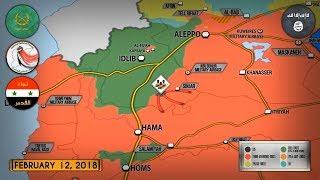 12 февраля 2018. Военная обстановка в Сирии. Сирийские ПВО сбили израильский истребитель F-16I.