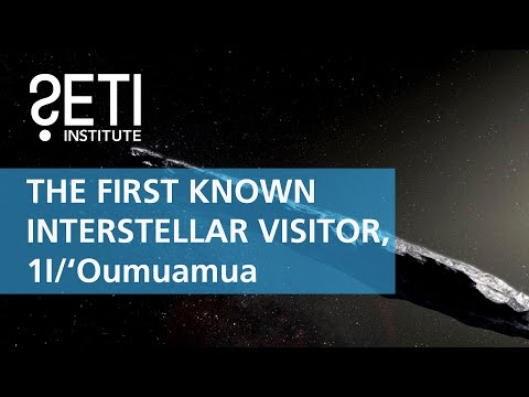 1I/'Oumuamua, The First known Interstellar Visitor - Matija Cuk &  Meg Schwamb (SETI Talks 2018)