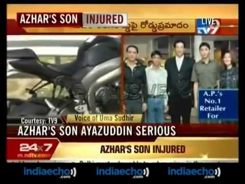 mohammed azharuddin 39 s son seriously injured road youtube. Black Bedroom Furniture Sets. Home Design Ideas