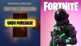 *NEW* 'Undo Purchase' Button in Fortnite Item Shop (SEASON 9 REFUNDS FOR FREE)