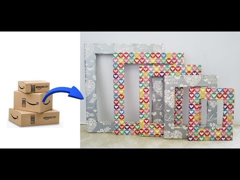 Create Beautiful And Amazing Picture Frames Out Of Amazon Delivery Box