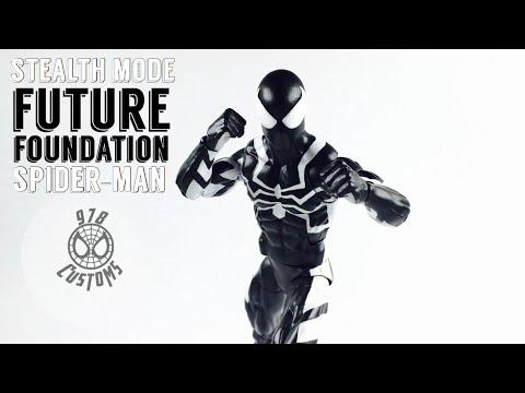 "Future Foundation Spiderman Custom Marvel Legends Spiderman 6"" action figure review"