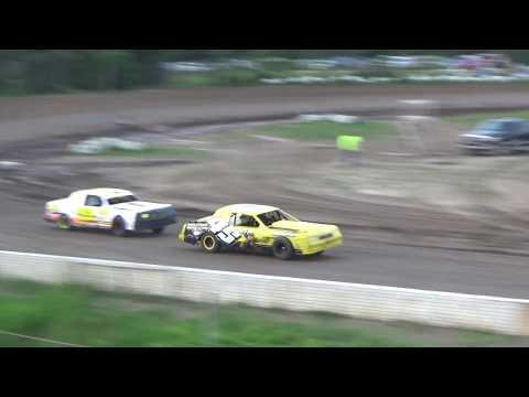 Street Stock Heat Race #1 at Mt. Pleasant Speedway on 06-15-18.