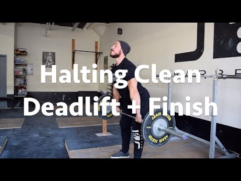 CLEAN PULL VARIATIONS TO IMPROVE THE CLEAN & JERK | HALTING CLEAN DL + FINISH |MOMENT WITH THE COACH