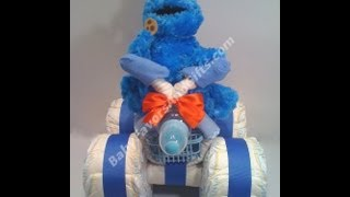 All Terrain 4-Wheeler ATV Vehicle Diaper Cake, baby shower gift ideas