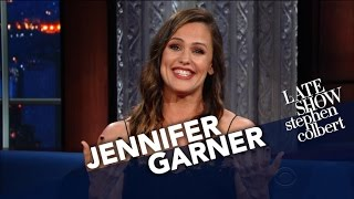 Jennifer Garner Uses Her Endorsing Skills For 'The Late Show'