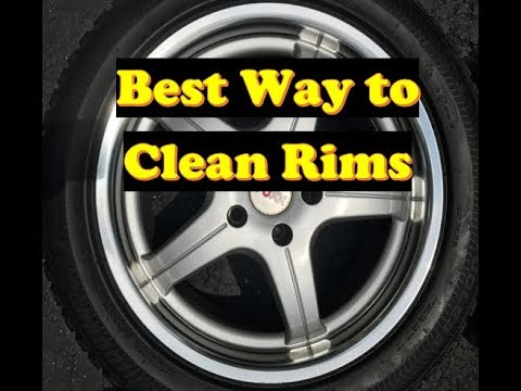 Rim & Wheel Clean?  A Drill Brush will make them like New!