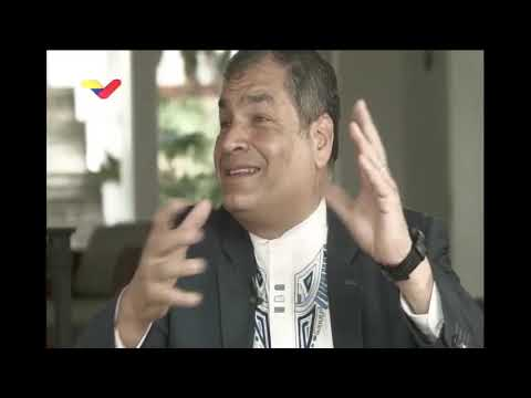 "Rafael Correa entrevistado en ""Aquí con Ernesto Villegas"""