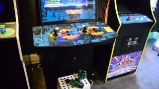 Gameroom With Customer Finished Quad Pedestal Diy Arcade Kit From Monster Arcades