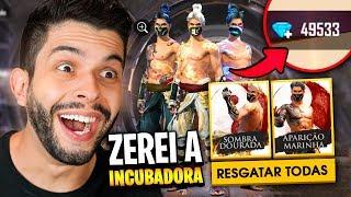 COMPREI 50.000 DIAMANTES E LIBEREI TODAS SKINS DA INCUBADORA DO FREE FIRE!!