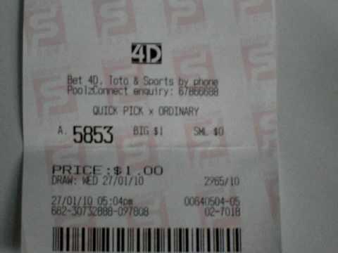 4D singapore pools  lottery 4D strike. 1st prize