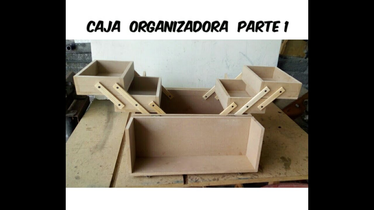 Caja organizadora o cosmetiquera de mdf youtube - Organizador de herramientas ...