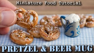 Miniature Pretzel/Brezel and Beer Mug // Polymer Clay Tutorial