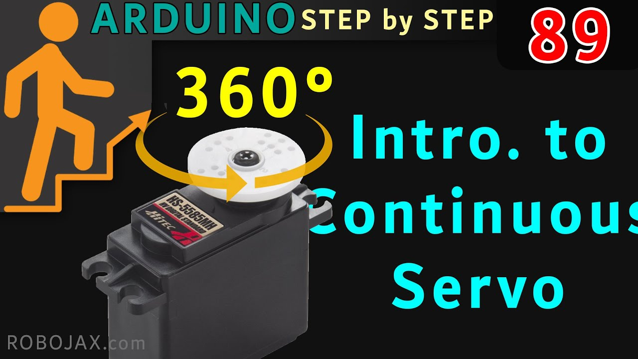 How to control 360 Continuous Servo with Arduino