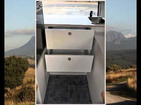 Toyota Hiace Camper conversion layout