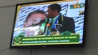 Mwigulu Nchemba akitangaza nia Dodoma May 31, 2015