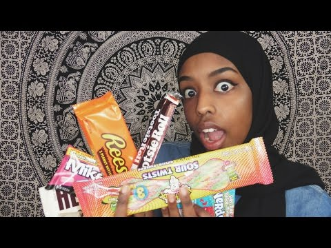 SOMALI GIRL TRIES AMERICAN CANDY!