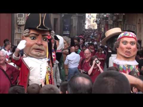 Santa Tecla Tarragona 2015.  L' Anada a la Professó del Seguici Popular i les Colles Castelleres.