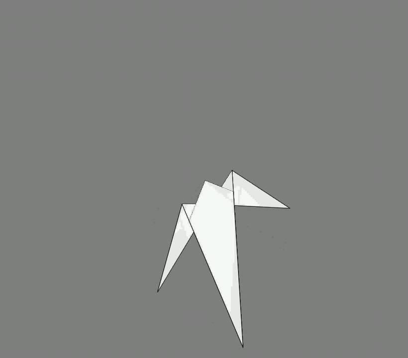 Оригами схема сборки ласточка