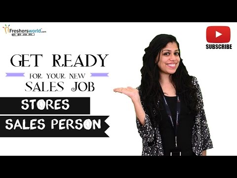 Job Roles For Stores Sales Person – Retail Shops,Supermarkets,Malls