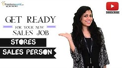 Job Roles For Stores Sales Person - Retail shops,Supermarkets,Malls