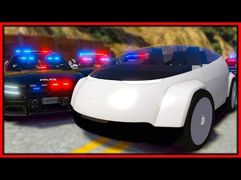 GTA 5 Roleplay - SELF DRIVING APPLE CAR TROLLS COPS | RedlineRP