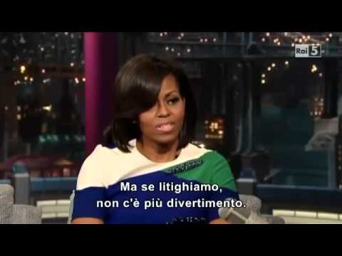 David Letterman Show   Michelle Obama   part 1
