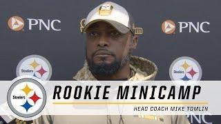 Steelers Coach Mike Tomlin likes what he 'hears' so far | 2018 Rookie Minicamp