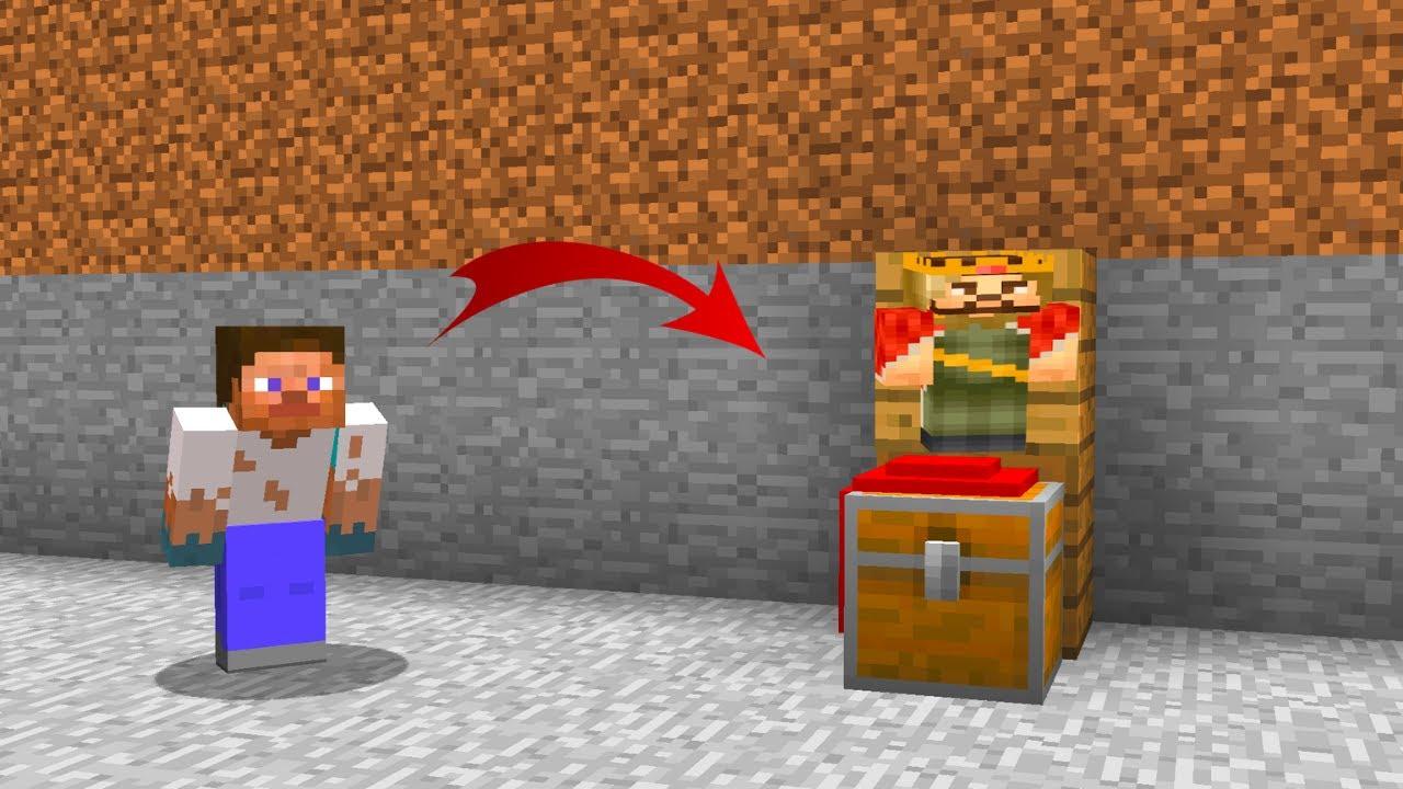 FAKİR ZENGİNİN GİZLİ SANDIĞINI BULDU! - 😱 - Minecraft