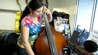 fmi bass 5 8 scale christopher upright bass set to 39 string length