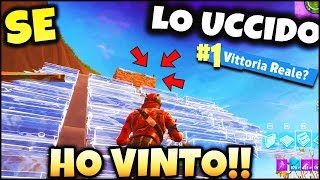 FORTNITE ITA : IF THE UCCIDO HO VINTO! ROYAL VICTORY? Arrival!