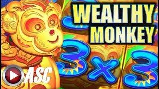 ★WEALTHY MONKEY 🙉 BIG WIN!★ W/ A SUBMARINE VICTORY! ⚓️ (Konami) | Slot Machine Bonus