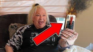 self-destrcutlng-iphone-prank-on-grandmom