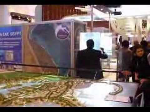 interactive projection screen @ cityscape dubai