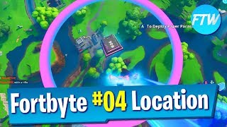 Fortnite Fortbyte #04 Location *Glitched Fortbyte* (Accessible by skydiving through the rings)