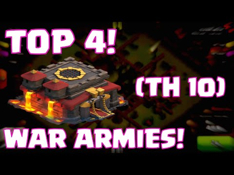 Clash Of Clans Best Townhall 10 Attack Strategies | Top 4 Clash Of Clans Clan Wars Armies