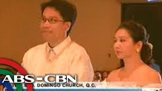 An emotional Korina Sanchez walks down the aisle