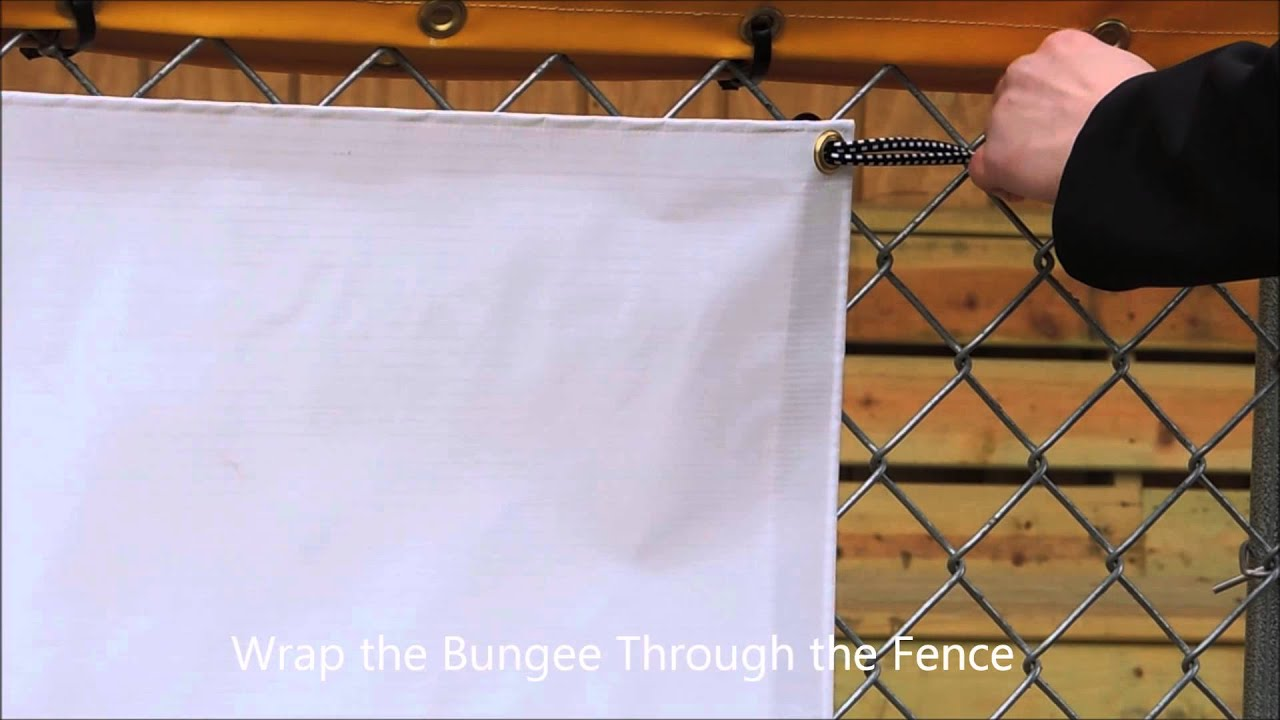 Banners Com Quot How To Hang A Banner On A Fence Using Ball