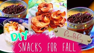 Easy Diy Fall Snacks & Treats! Healthified Brownie, Apple Chips & More!