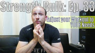 The Day After The Cheat Day | Adjust your Workout to YOUR Needs | Strength Bulk Ep. 33