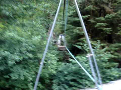 Cullite cable car on WCT, Vancouver Island, BC, Canada